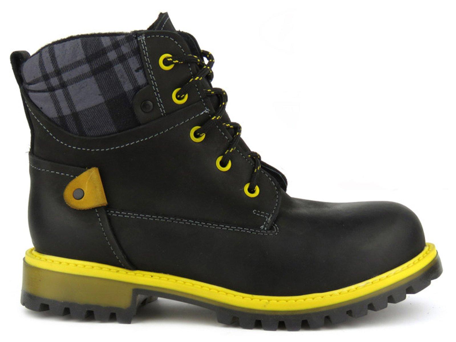 d97786a6cec41 Trapery damskie Helios 663 czarny || żółty | Damskie \ Buty zimowe ...